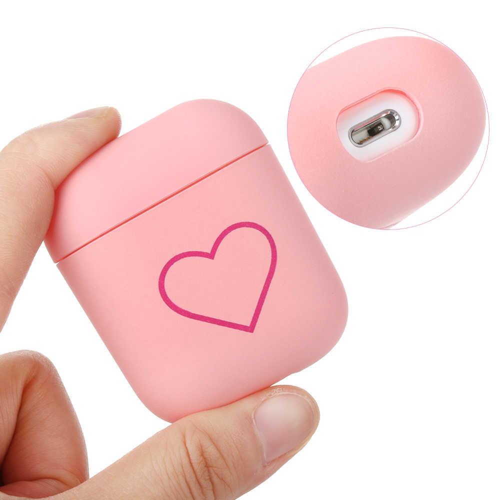 Funda protectora para parejas de 1 Uds. Funda protectora de corazón de amor de moda funda protectora mate a prueba de golpes para Apple AirPods