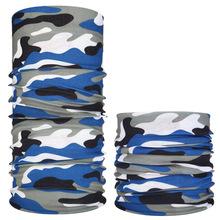 1 sztuk odkryty chustka szalik UV Cut Camo szalik Sport mężczyźni magiczny szalik nakrycia głowy rower narciarski wędkowanie maska kolarstwo szalik tanie tanio CN (pochodzenie) Drukuj Poliester Aktywny WW813 Camouflage Windproof breathable