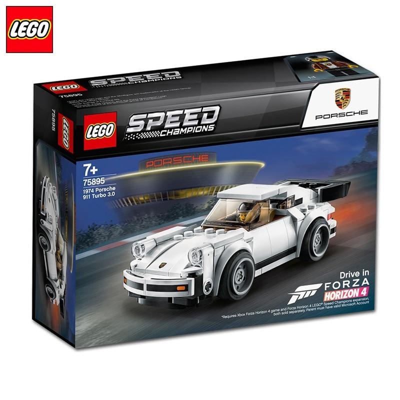 August New Products LEGO Super Race Car Series 75895 Porsche 911turbo3. 0 Children Building Blocks Toy
