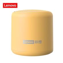 لينوفو مكبر صوت لاسلكي صغير ، بلوتوث 5.0 ، اتصال TWS ، محمول ، خارجي ، بدون استخدام اليدين ، مع ميكروفون ، صندوق صوت USB ، L01