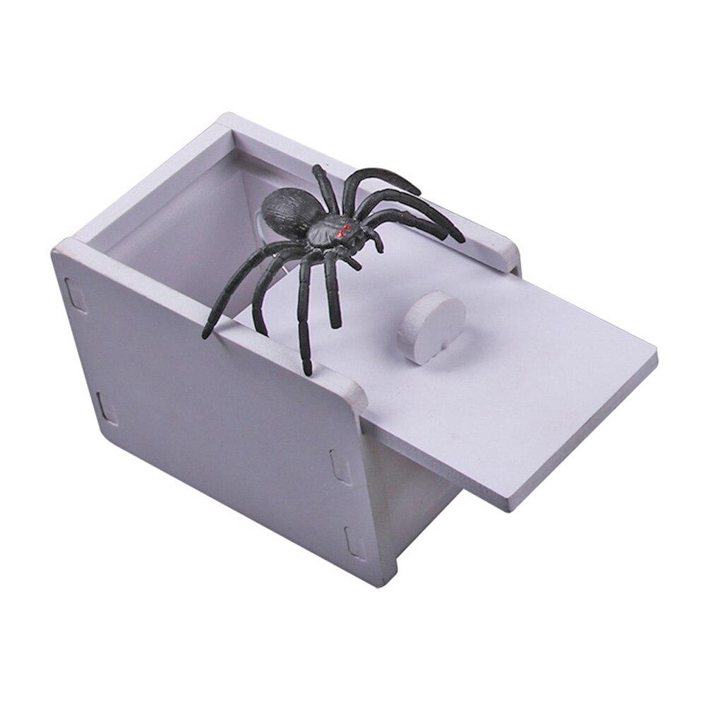 Chilren шалость безделушка день апреля дурака пародия смешная пугать Маленькая деревянная коробка паук страшные игрушки для малышей Веселая страшная коробка паук шалость - Цвет: 2