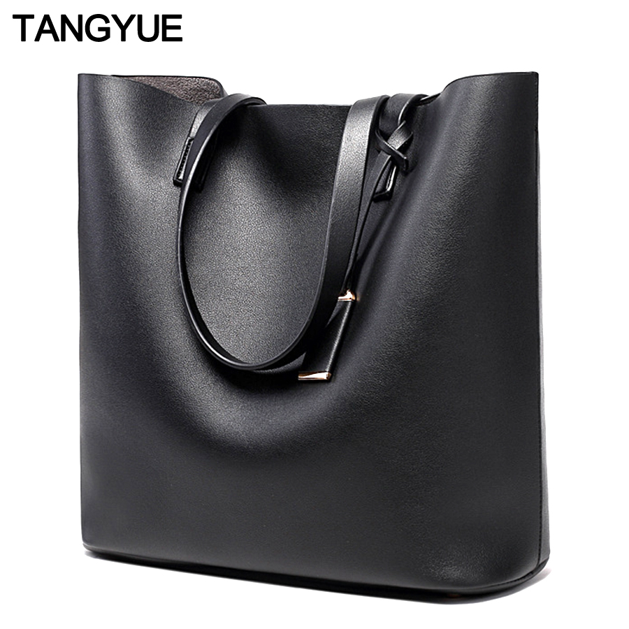 TANGYUE Women Leather Handbags Lady Large Tote Bag Female Pu Shoulder