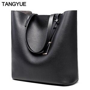 TANGYUE Women Leather Handbags Lady Large Tote Bag Female Pu Shoulder Bag Women's Big Bolsas Sac A Main Femme Ladies Hand Bags(China)