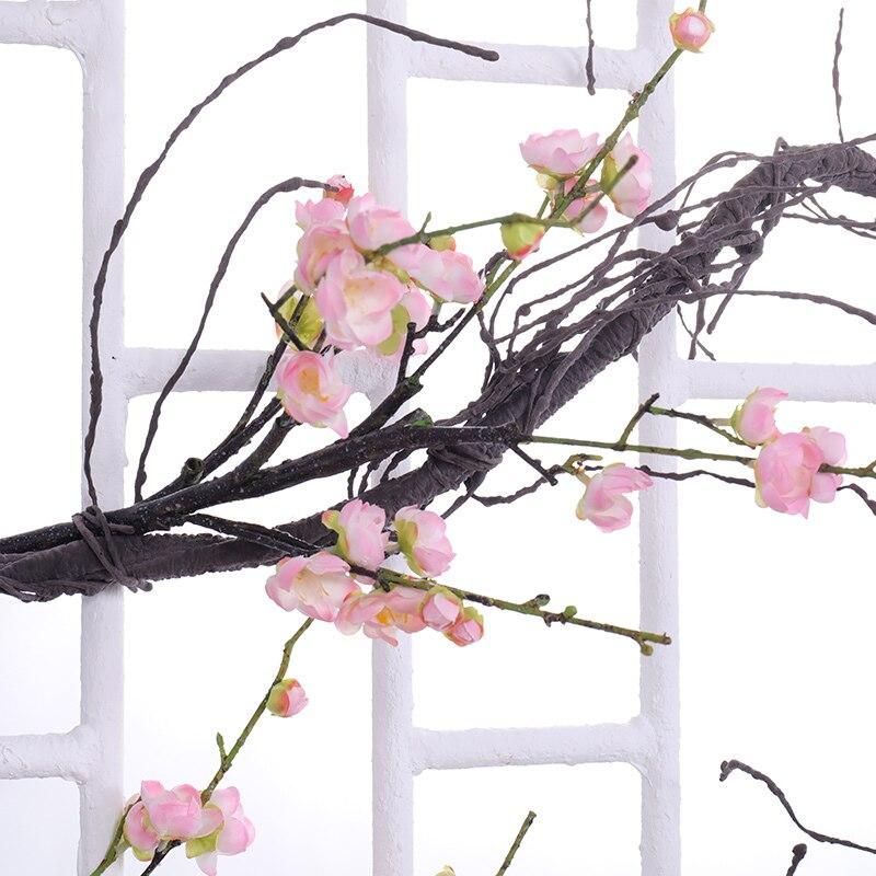 Искусственное дерево поддельное дерево Настоящее прикосновение ветка украшение подвесной ротанговый искусственный гибкий цветок украшение в виде лианы Свадебный декор