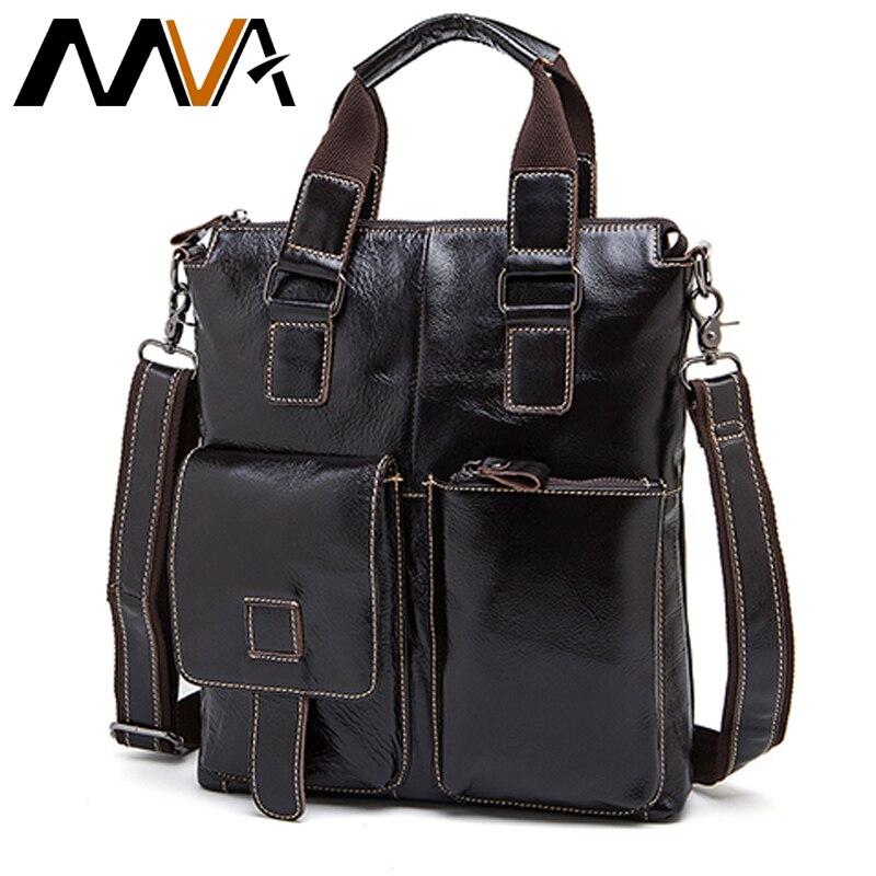 MVA Man Bags Genuine Leather Messenger Bag Men Laptop Briefcase Male Shoulder Bags For Documents Business Handbag Men Tote 259
