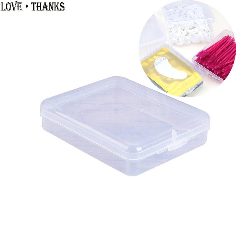 1 шт. пластиковая коробка для хранения инструмент для наращивания ресниц Пинцет Коробка Для Хранения Прозрачный квадратный многоцелевой