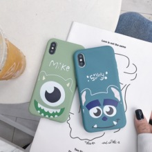 mike monsters Case for iphone X XR XS MAX 11 Pro Monsters mike sulley pattern silicon soft cover for iphone 6 6s 7 8 plus phone back case