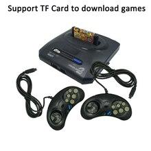 Pour Sega MegaDrive MD2 Mini TV Console de jeu vidéo Joystick 16 bits sortie AV Double contrôleur de manette filaire Dropshipp