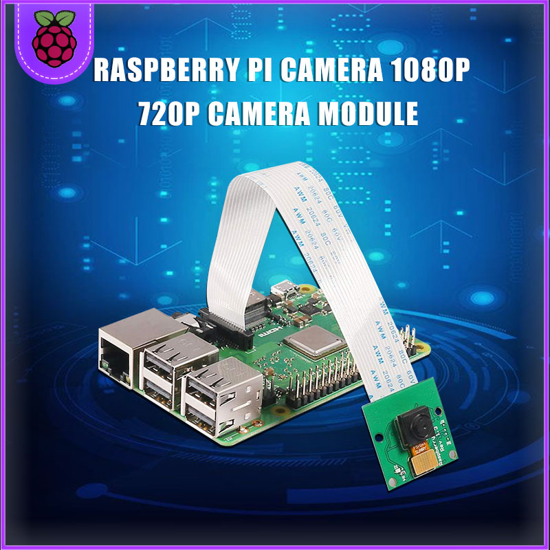 Raspberry Pi Camera 1080p 720p Camera Module For Raspberry Pi 4 3 Model B+ 5Mp Webcam RPI126