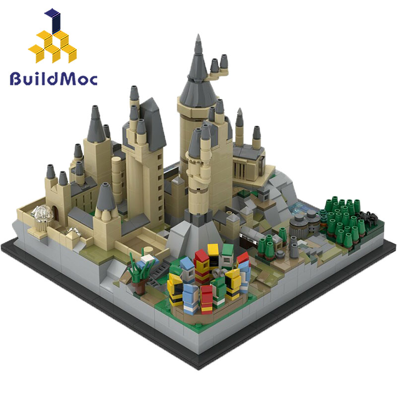 BuildMoc Mini Lepinin 16007 25280 Moive Toys Magic Castle Compatible Hogwart's Castle Epic Building Blocks Christmas Gifts Toys 1