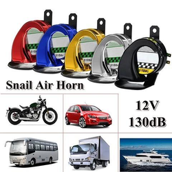 12V DC 130db Car Snail Horn Universal Waterproof Air Motorcycle Truck Horn Siren Loud Snail Air Car Horn Sound Signal