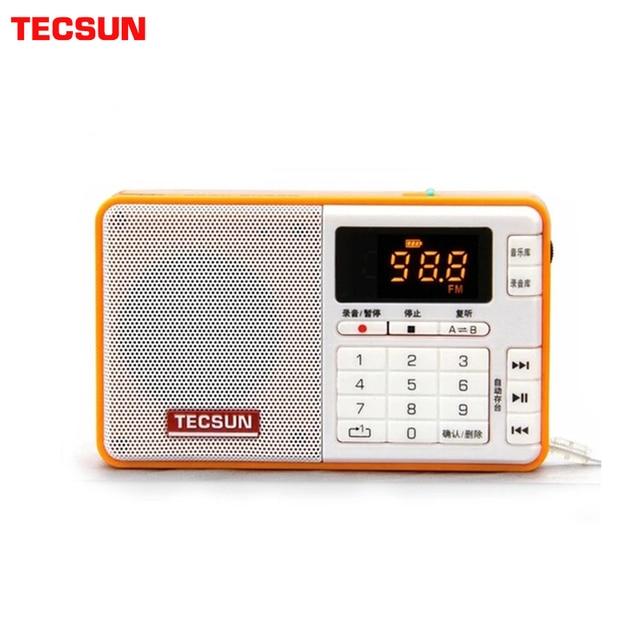 TECSUN Q3 راديو حجم الجيب مسجل صغير مع/بدون 8GB 16G TF بطاقة مشغل MP3 FM ستيريو FM 76 108 MHz شحن مجاني