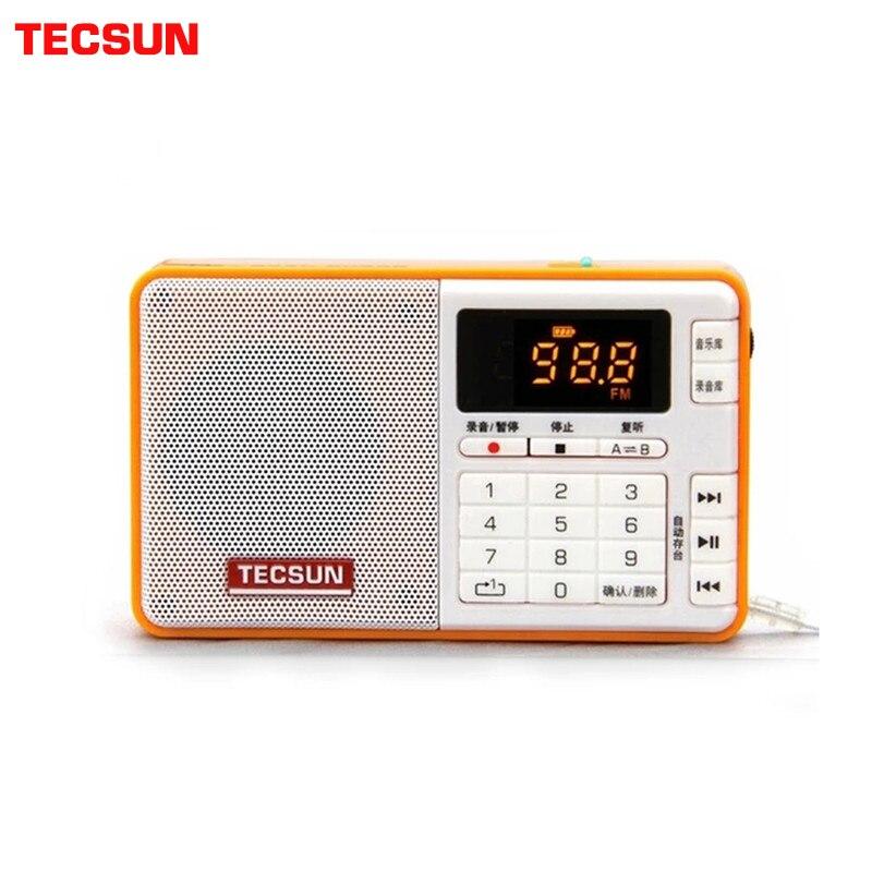 TECSUN Q3 Radio taille de poche Mini enregistreur avec 16G TF carte lecteur MP3 FM stéréo FM 76-108 MHz livraison gratuite