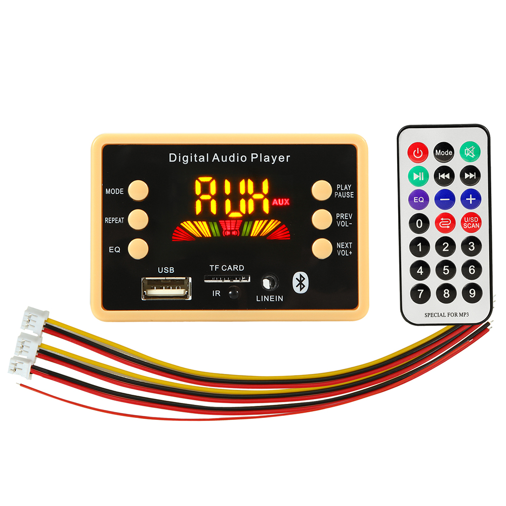 5v/12v Car USB MP3 Player Bluetooth 5.0 MP3 Decoder Decoding Board Module WMA WAV TF Card Slot / USB / FM Remote Board Module