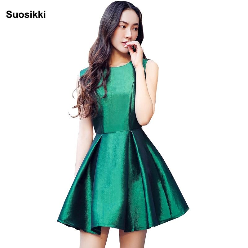 Suosikki 2019 New Fashion Fuchsia Vestido De Noiva Short Design Reflective Bridal Party Cocktail Dress Sparkle