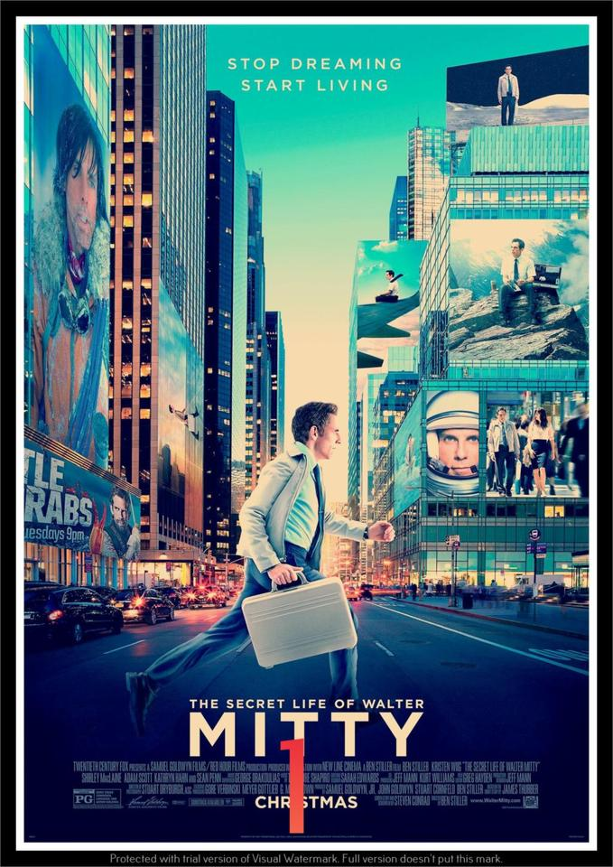 The Secret Life Of Walter Mitty Poster Decorative Diy Wall Canvas Sticker Home Bar Art Posters Decor Wall Stickers Aliexpress