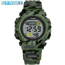 SYNOKE – montre-bracelet de sport pour enfants, étanche, multifonctionnel, Style militaire, pour l'extérieur