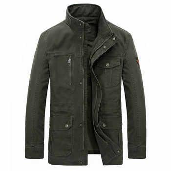 Di marca Più Il Formato 7XL 8XL Uomini Giacca Militare 2020 Casual Del Collare Del Basamento del Cotone di Inverno Giubbotti Cappotti jaqueta masculina