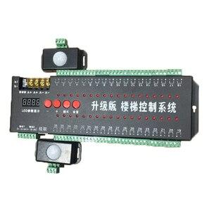 Светодиодный контроллер лестницы 12 В с двойным датчиком движения, светильник лестницы, светодиодный светильник s IC 1903/Одноцветный контролл...