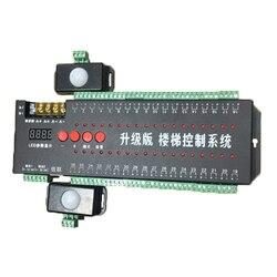 Controlador de escalera Led 12V, Sensor de movimiento Dual de potencia, luces Led escalonadas para escalera, IC 1903/controlador de tiras de un solo Color