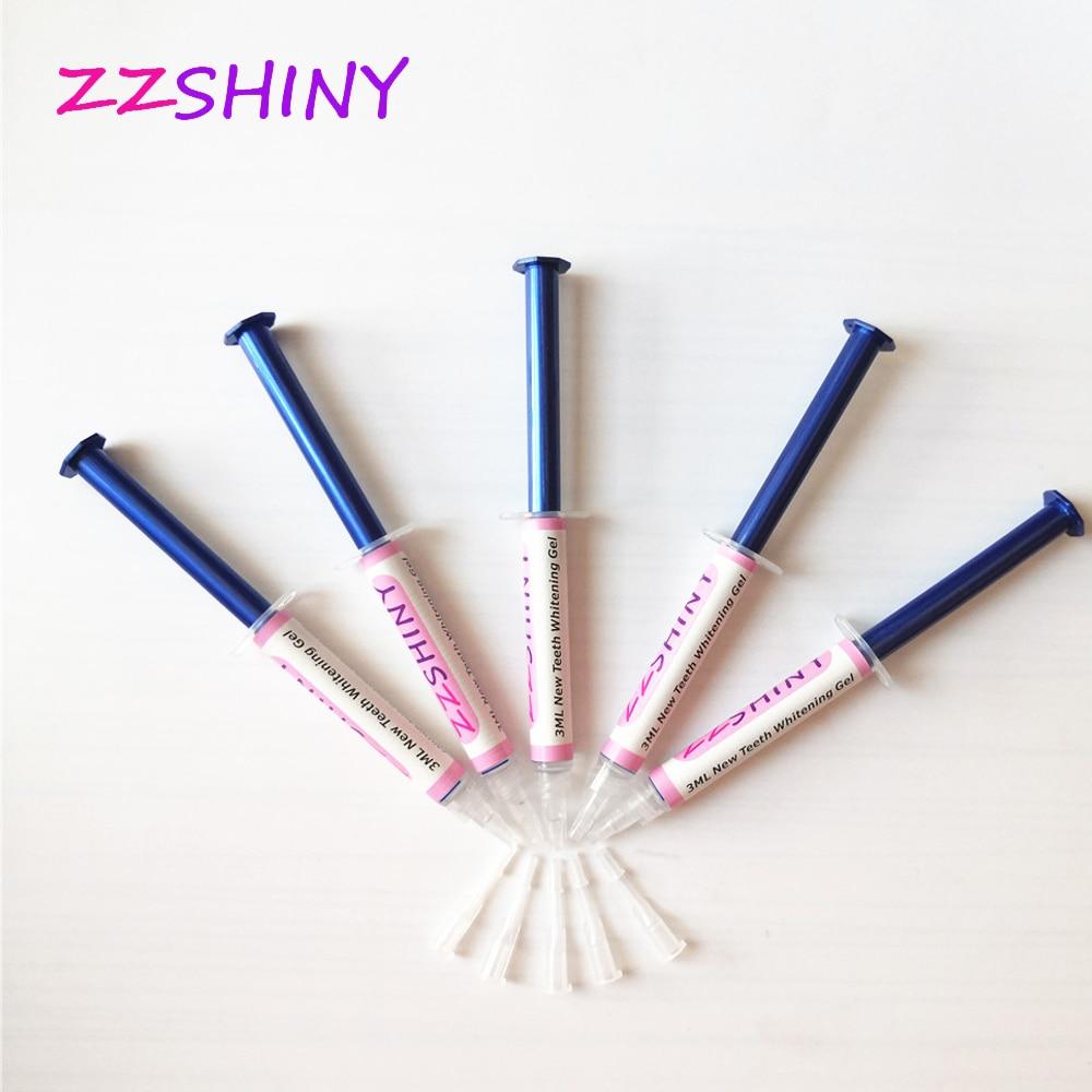 ZZSHINY 15pcs/10pcs /5 Pcs*3ml Teeth Whitening Gel 44% Peroxide Dental Tooth Bleaching Oral Care Gel