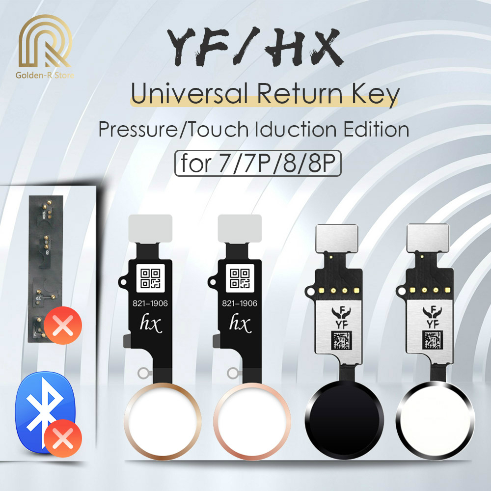 YF HX 3rd Gen Universal Home Button For IPhone 7 7G 8 8G Plus Return Button Key Only Back Function And Screen Shot No Touch ID