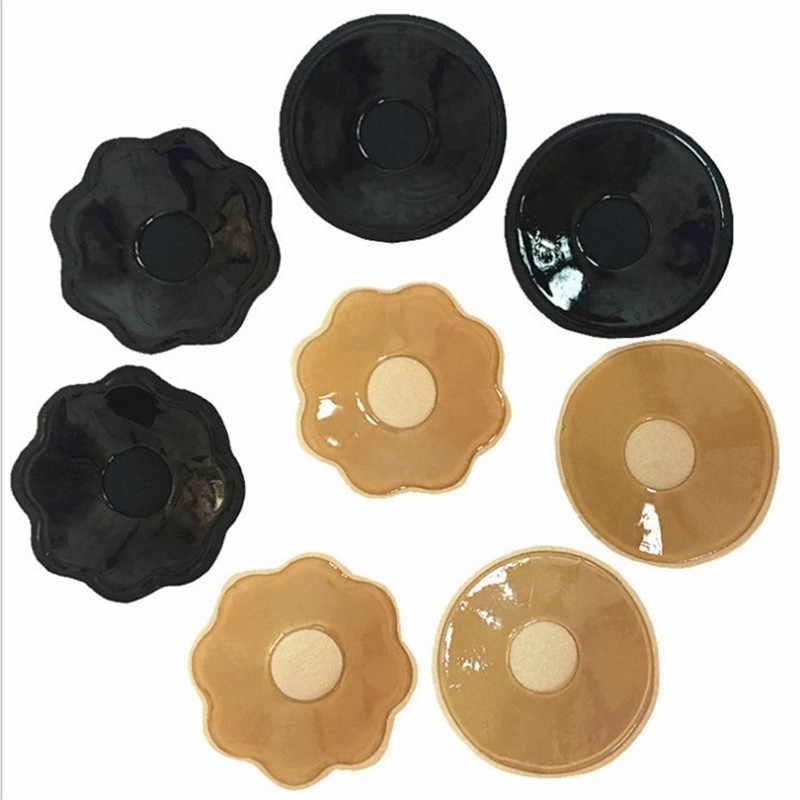 1 para wkładek do biustonosza wielokrotnego użytku samoprzylepny silikonowy biustonosz wkładka laktacyjna płatki naklejki na biust osłona na sutek niewidzialna bielizna