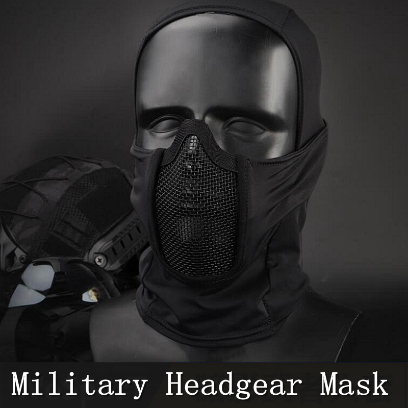 New Military Tactical Headgear Mask Breathable Airsoft Paintball Hunting Masks Wear Resistant Safety Shooting Combat Mask