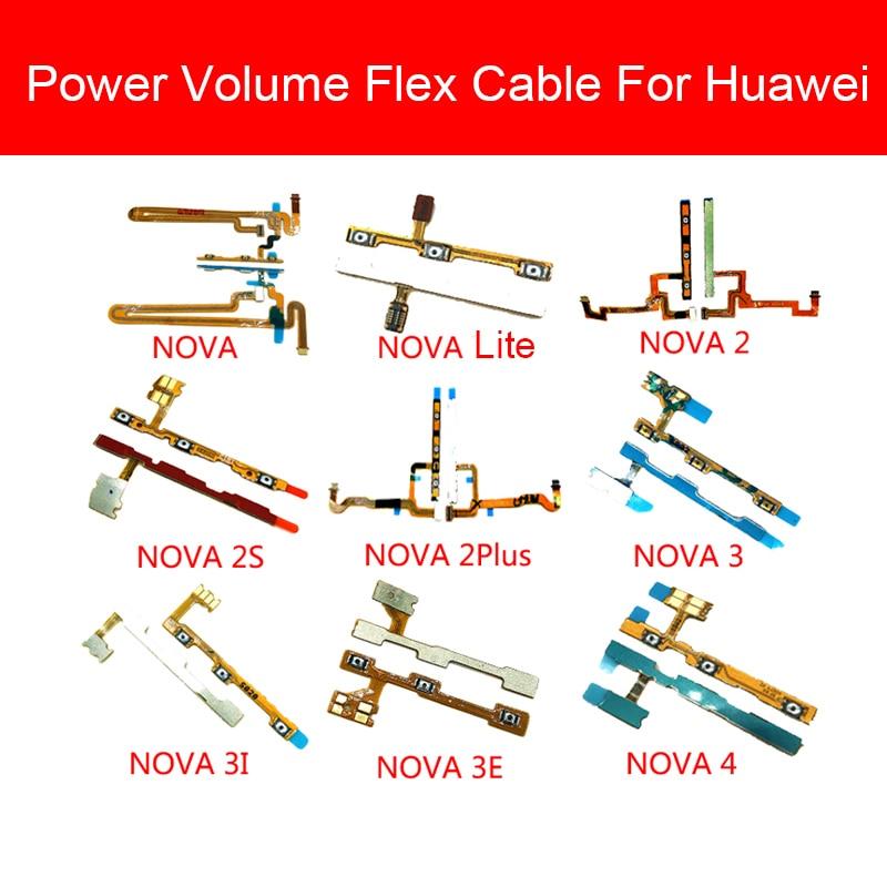 Volume & Power Flex Cable For Huawei Nova 2 2i 2Plus 2S 3 3e 3i 4 4e 5i 5Pro Lite Power Volume Side Button Flex Ribbon Parts