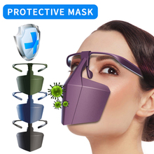 Anti-fog, Splash-proof, Anti-fog, Dust-isolated Face Shield Head-mounted Fashionable Protective Isolation Mask head mounted welding helmet black against ultraviolet ray protective mask pc safety headgear face shield mask glasses