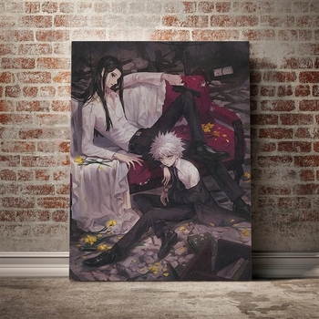 Prints Canvas Painting Killua And Illumi Hxh Anime Character Poster Popular Fashion Wall Art Picture Home Decor For Living Room home wall art anime character picture hd prints poster modern canvas painting for baby bedroom living room decor for gift framed