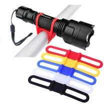 1 шт., эластичные силиконовые ремни для бандажа крепежная лента для велосипеда, трубка для бутылки с водой, держатель для вспышки, держатель велосипедного фонарика 5 видов цветов