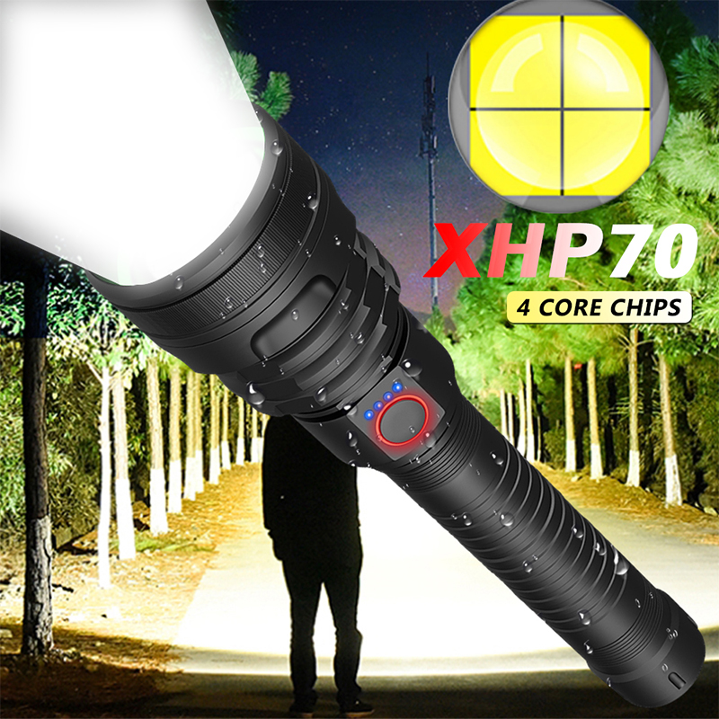 7500 Lumens Led Flashlight Xhp70.2 Most Powerful Flashlight 26650 Usb Torch Xhp70 Lantern 18650 Hunting Lamp Portable Light