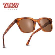 20/20 偏極アセテートサングラス男性クラシックデザイン女性の新着サングラス UV400 保護シェード手作り AT8143