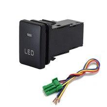 1pc bsm drl led estacionamento radar fonte de alimentação da bateria direção sheel botão interruptor música para suzuki jimny 2019