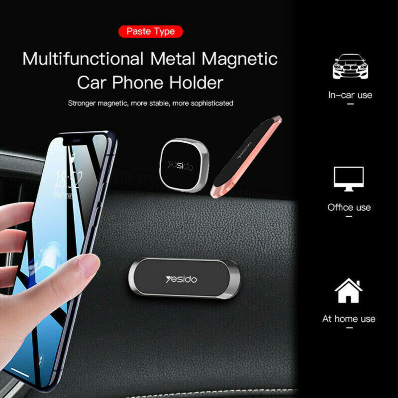 Strip Shape Magnetic Car Phone Holder Stand Metal Plate Phone Mount Accessories