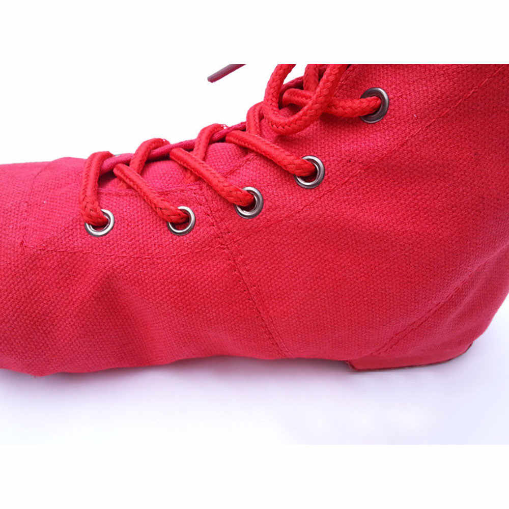 SAGACE Unisex Ayakkabı Kadın Sneakers Modern Tuval Caz Bale Dans Spor La Ce Up Çizmeler spor ayakkabı Kadın 2019