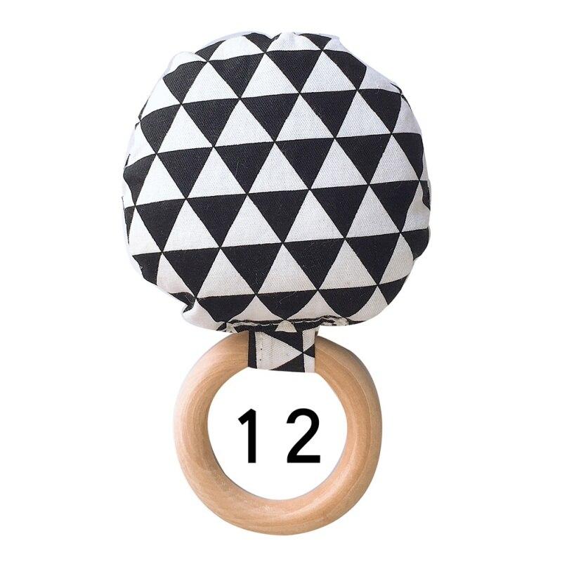 Портативный для новорожденных Детское Зубное кольцо жевательные Прорезыватель для зубов ручной безопасная, из дерева натуральное кольцо молочных зубах упражняющая игрушка в подарок - Цвет: L