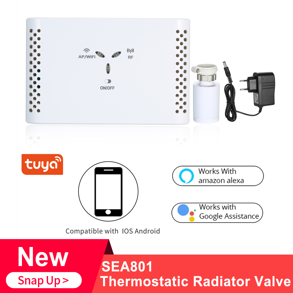 SEA801-WIFI Thermostat Temperature Controller Heating And Accurate TRV Thermostatic Radiator Valve Programmable Voice Controller
