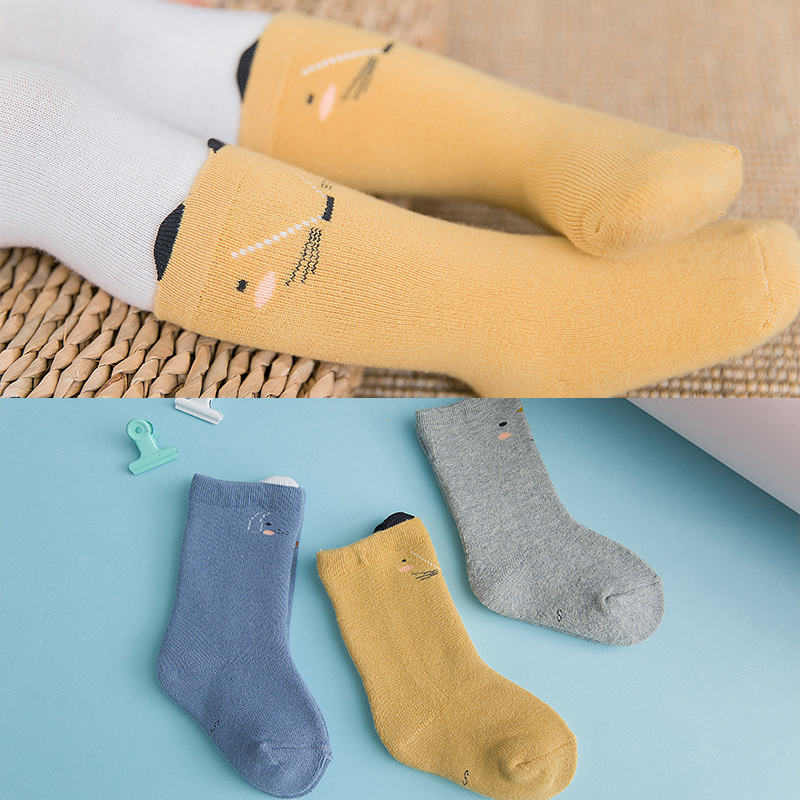 3pair Newborn Boy Girl Baby Autumn Winter Socks Soft Warm Toddlers Toddler Baby Knee High Socks Princess  Calcetines