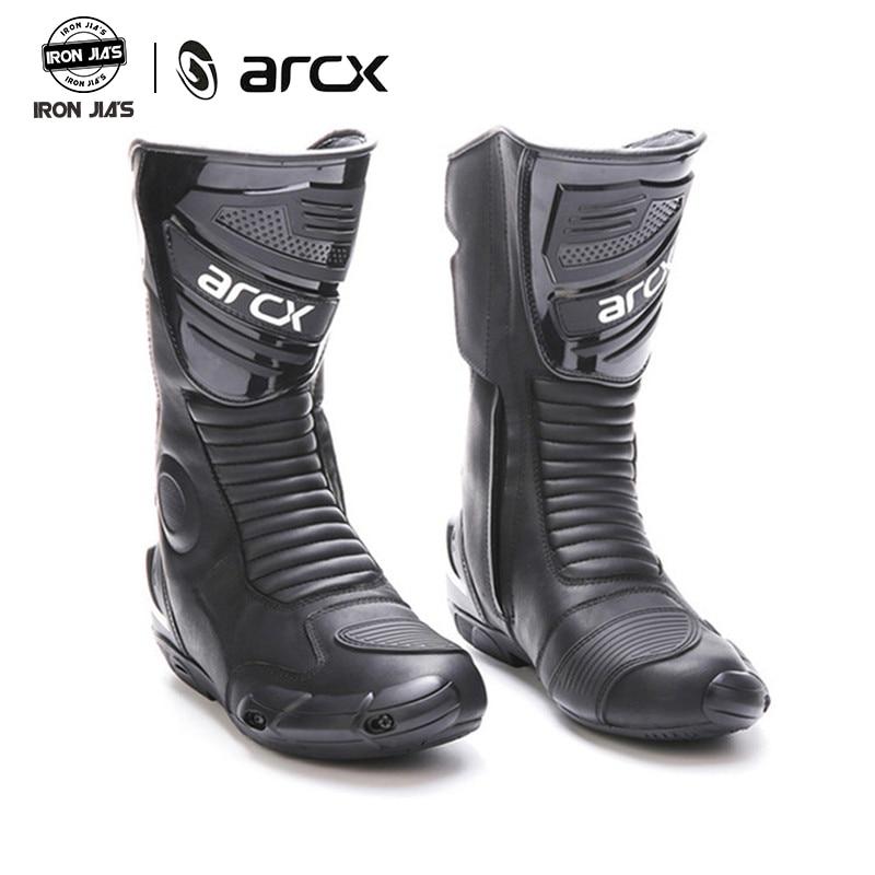 ARCX Motorrad Stiefel Hohe qualität Durable Komfortable Motorrad Touring Fahrrad Reit Professionelle Reiter Racing Stiefel