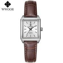 Wwoor женские часы 2020 модные квадратные с браслетом маленькие