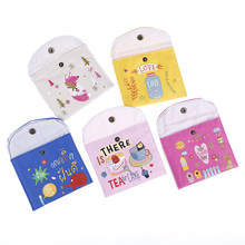 2020 Reusable Girls Diaper Sanitary Napkin Storage Bag Bag For Mama Cloth Pads, Menstrual Pad, Sanitary Pads Bags 15 STYLE 1pc(China)