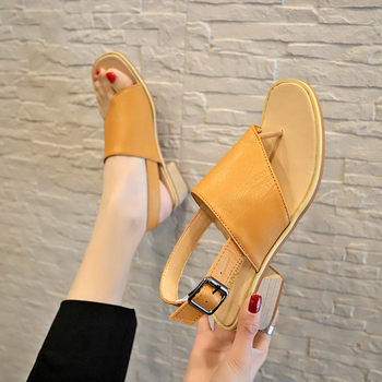2020 Summer Sandals Women Shoes Gladiator Flat Sandals Women Casual Slip on Beach Soft Leather Shoes Sandalias Mujer jady rose weave style women genuine leather flat sandal hollow out gladiator sandals flats casual beach shoes woman sandalias