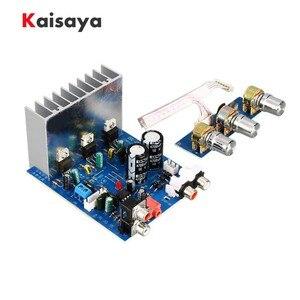 Image 1 - 2.1 15W * 2 + 30W TDA2030 double AC12V 15V amplificateur de basse carte Sub Audio stéréo pour bricolage haut parleur ampli accessoires F6 013