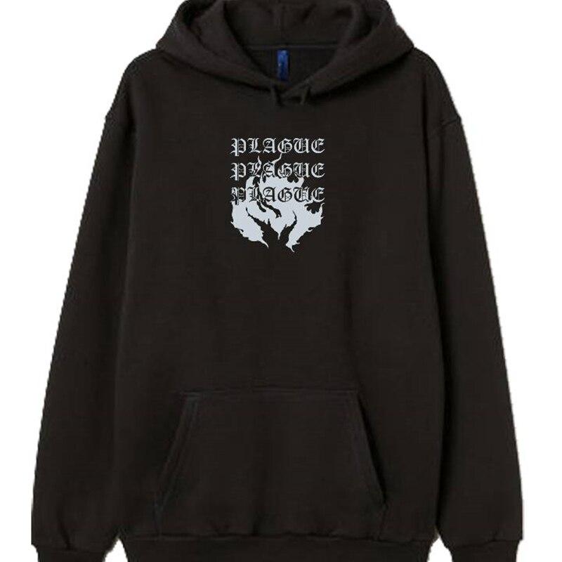 Porzingis Fleece Hoody For Women Thick Winter Sweatshirt Fashion Prined Black Gothic Style Coat Tops