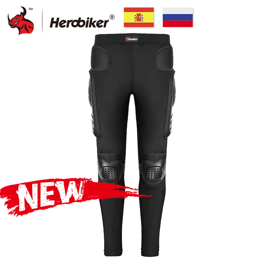 HEROBIKER Motorcycle Motocross Pants Long Armor Motorcycle Pants Ski Skating Cycling Motocross Protective Gear Hip Protector