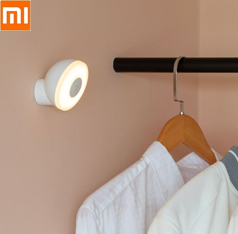 Xiaomi Mijia Led Induction Night Light 2 Lamp Adjustable Brightness Infrared Smart Sensor 360 Rotating Adjustable Magnetic Base