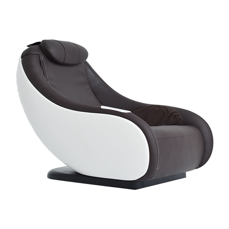 Massage Chair Household Small Whole Body Electric Free Installation Heating Design Massage Sofa Mini L-Shaped Rail Brown
