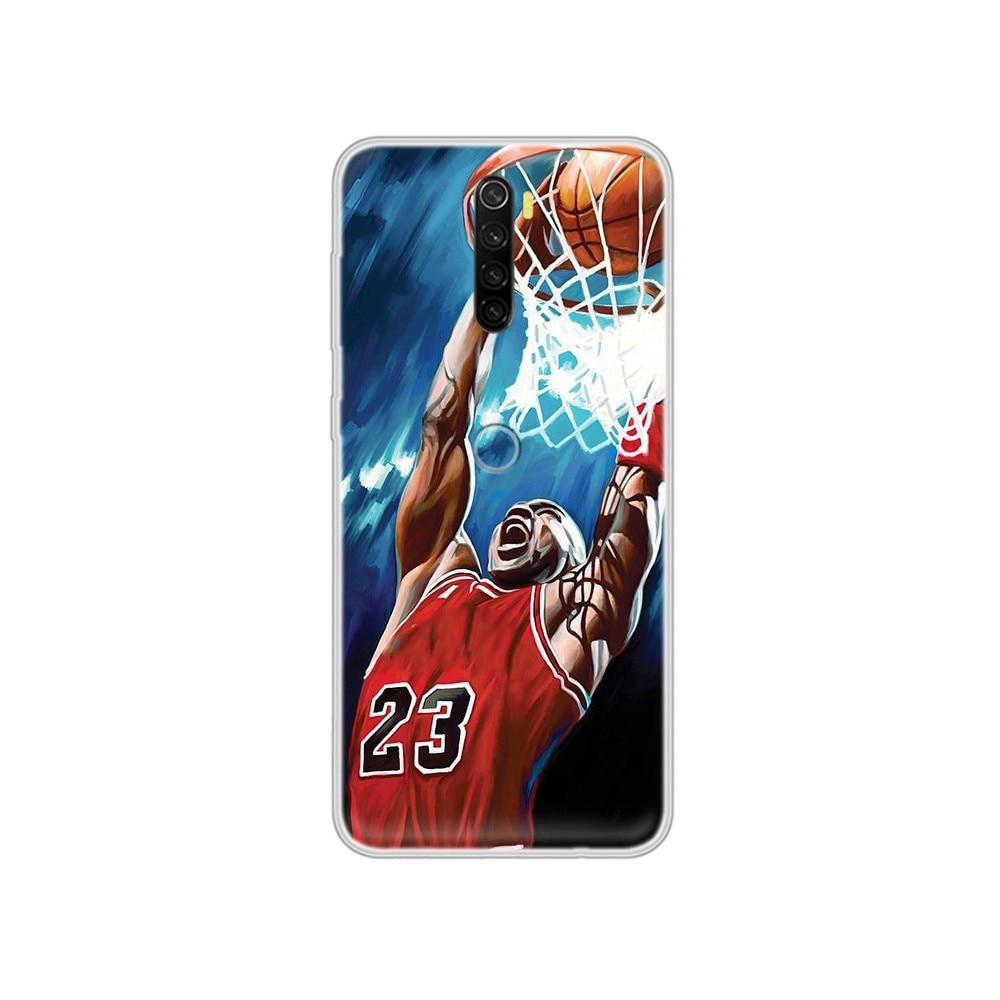 Michael basketball Jordan pretty prime Transparent Phone Case cover For XIAOMI Redmi Note 3 4 5 6 7 8 9 9s Pro max 8T 4X